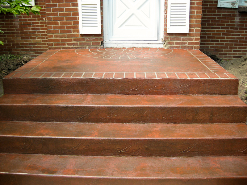 Decorative Stamped Steps Buffalo