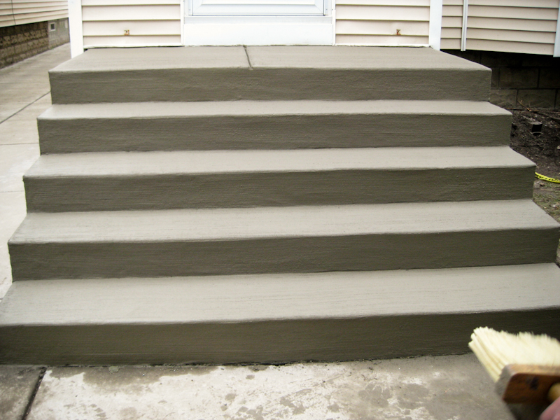 Plain concrete stairs